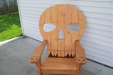 skull chair by mikede lumberjocks woodworking