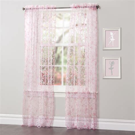 pink sheer curtain sears