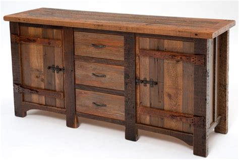 Reclaimed Wood Sideboard, Aged Wood Sideboard, Rustic Decor