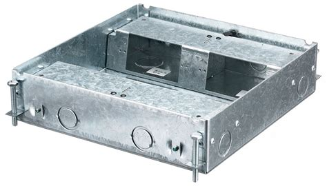 hubbell hblcfb401base 4 shallow raised floor box for concrete floors crescent electric