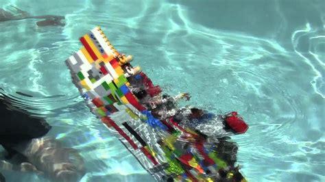 lego titanic sinks