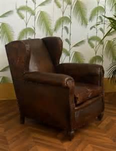 fauteuil club ancien fauteuil club vintage fauteuil 224 oreilles ancien cuir r 233 tro 233 es