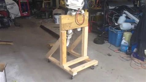 Small Boat Jack Stands by How To Build A Boat Outboard Engine Stand Diy Cart Youtube