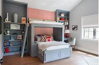 cool bunk beds Furniture. Custom Made Solid Wood Corner L Shaped Bunk Bed ...