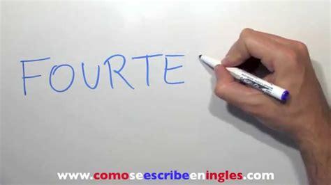Catamaran En Ingles Como Se Escribe by C 243 Mo Se Escribe 14 En Ingl 233 S N 250 Mero Catorce Youtube