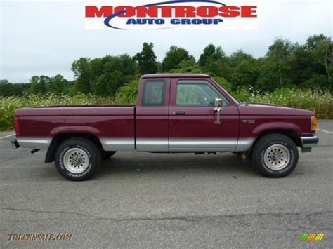 1992 ford ranger xlt extended cab 4x4 in medium cabernet metallic photo 5 a94819 truck