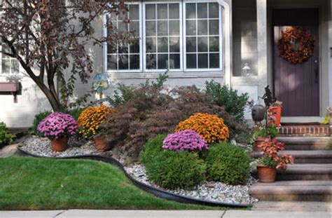 Fall Landscaping Ideas For Front Yards Special Paint For Kitchen Cabinets Cabinet Design Depths Shaker White Diamond Review Houston Home Depot Buy Doors Online