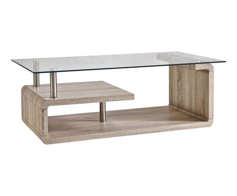 table basse bois et verre naturel et transparent l120 westwing home living meubles en