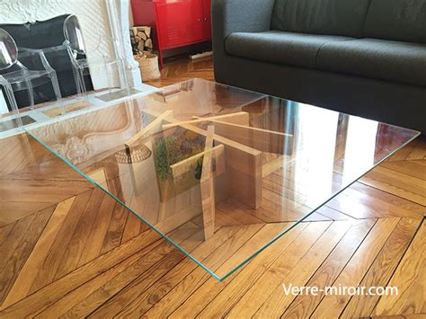 table basse en verre tremp 233
