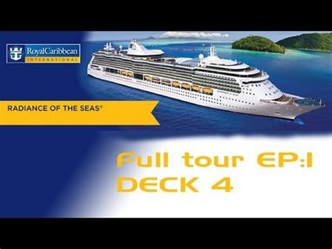 radiance of the seas ship tour ep 1 deck 4