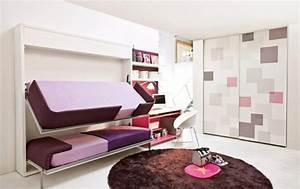 Jugendzimmer Mit Klappbett : hochbett im kinderzimmer 100 coole etagenbetten f r kinder ~ Markanthonyermac.com Haus und Dekorationen