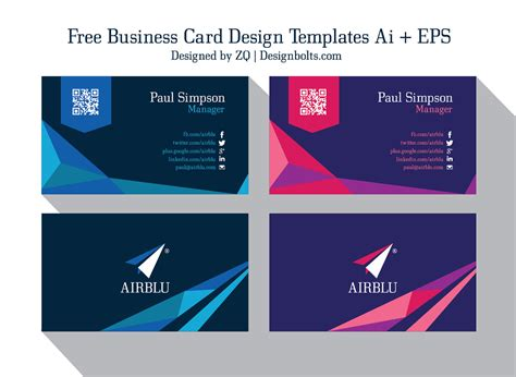 2 Free Professional Premium Business Card Design Templates