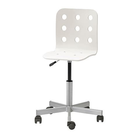 White Swivel Desk Chair Ikea by Jules Junior Desk Chair White Silver Color Ikea