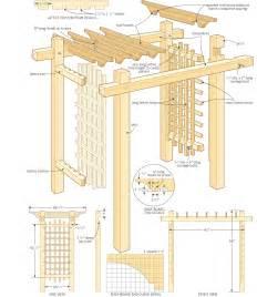 pergola construction plans free furnitureplans
