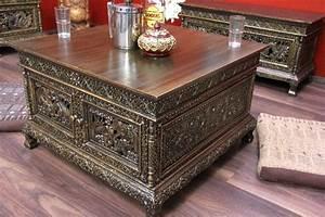 Couchtisch Truhe Holz : couchtisch truhe gold holz elefanten orient thailand 80x80x50 ~ Markanthonyermac.com Haus und Dekorationen