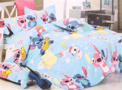 2015 new disney lilo stitch bedding set 4pc for king bed cotton ebay