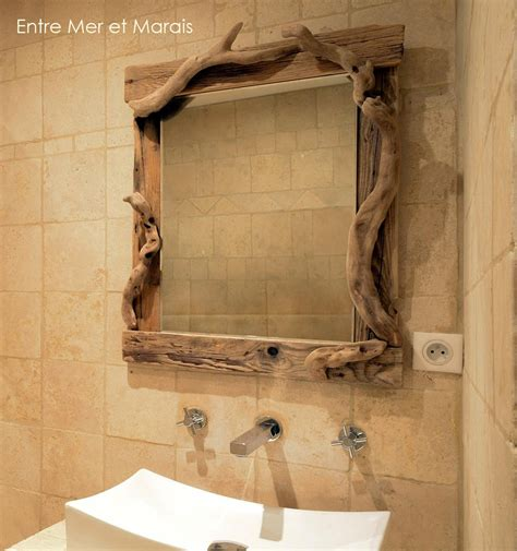 miroirs en bois flott 233 entre mer et marais cr 233 ations en bois flott 233