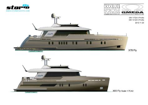 Motorjacht In Storm by New Storm X 65 And X 78 Yacht Series Designed By Omega