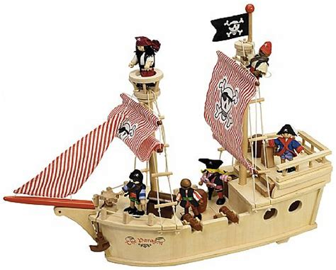 Pirate Boat Toy by Wooden Pirate Ship Toy Childrens Pirate Ship