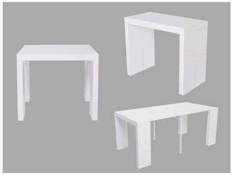 console extensible becky 6 couverts mdf laqu 233 blanc