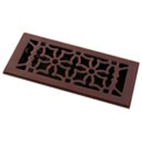 rubbed bronze finish floor registers heat