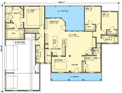 images one level country house plans country home with open floor plan