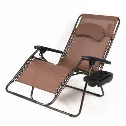 oversized xl padded zero gravity chairs folding recliner lounge w tray 3 color ebay