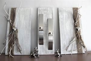 Holz Dekoration Modern : nat rlich dekorieren wanddeko ~ Markanthonyermac.com Haus und Dekorationen