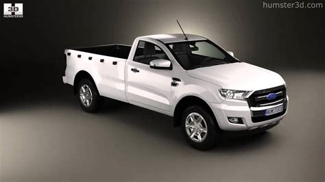 ford ranger single cab xl 2015 by 3d model store humster3d
