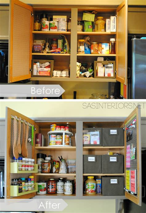 kitchen organization ideas for the inside of the cabinet doors burger