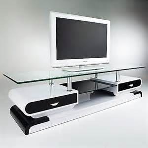 cevelle table tv en verre conforama