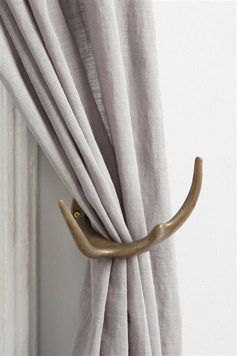 magical thinking antler curtain tie back outfitters antlers and curtains