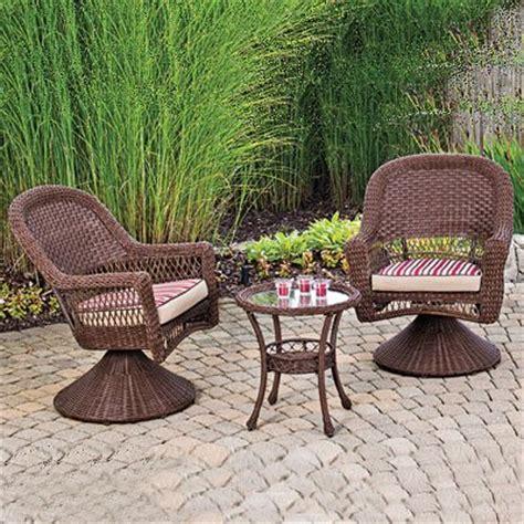 wilson fisher outdoor patio furniture set indoor outdoor resin wicker 3 pc key west with 2
