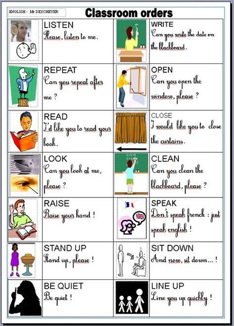 Les Consignes De La Classe En Anglais  La Classe De Myli Breizh