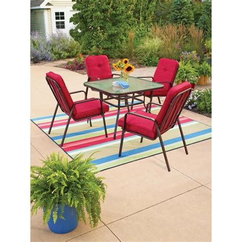 mainstays lawson ridge 5 patio dining set patio furniture walmart
