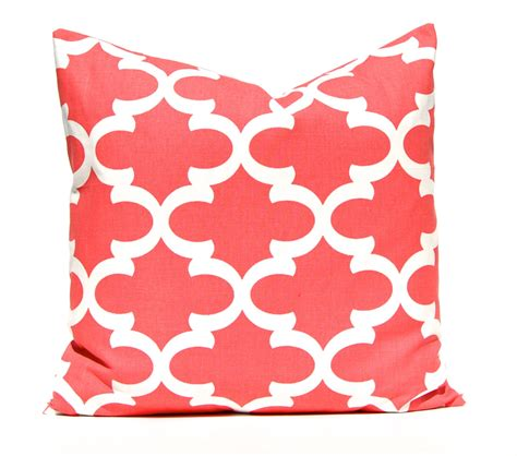 coral pillow decorative pillow throw pillow coral pillow