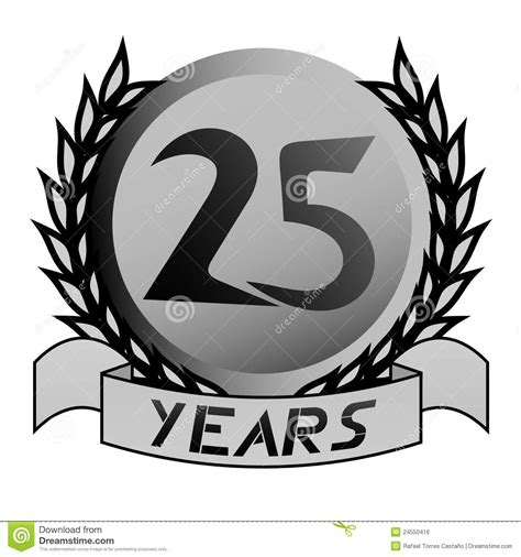 25th Anniversary Emblem Royalty Free Stock Image  Image 24550416