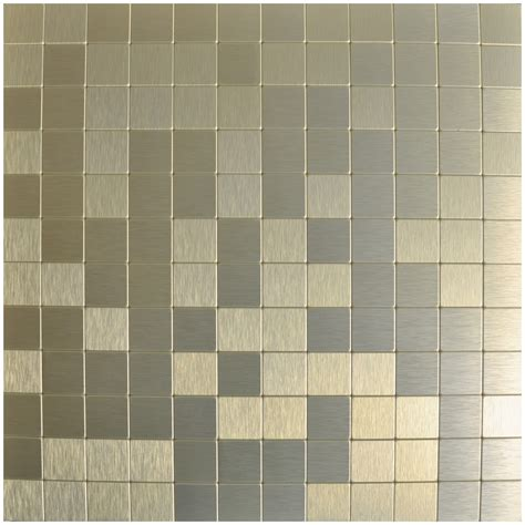 peel n stick metal mosaic 10 sheets bronze square tiles