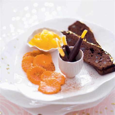 recette dessert chocolat agrumes