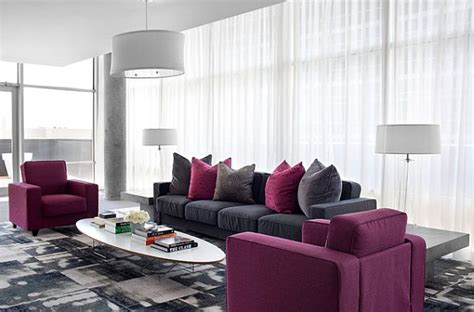 grey and purple living room paint how to decorate with purple in dynamic ways