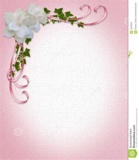 gardenias de cadre d invitation de mariage photographie stock image 10039412