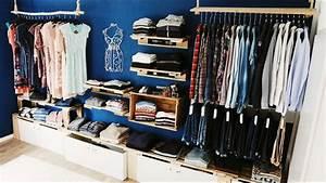Begehbarer Kleiderschrank Offen : schranksystem aus paletten selber bauen handmade kultur ~ Markanthonyermac.com Haus und Dekorationen