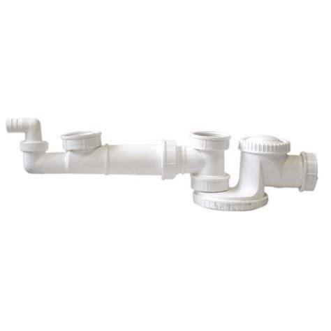 tubulure avec siphon plat pour 2 cuves gain d espace plomberie fr
