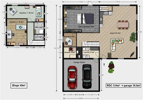 plan maison contemporaine toit plat gratuit