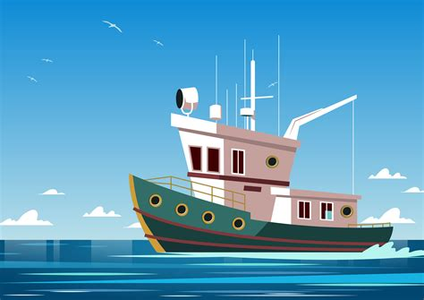 Boat Pictures Download by Trawler Power Boat Vector Download Free Vector Art