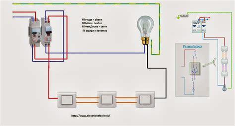 schema electrique montage permutateur