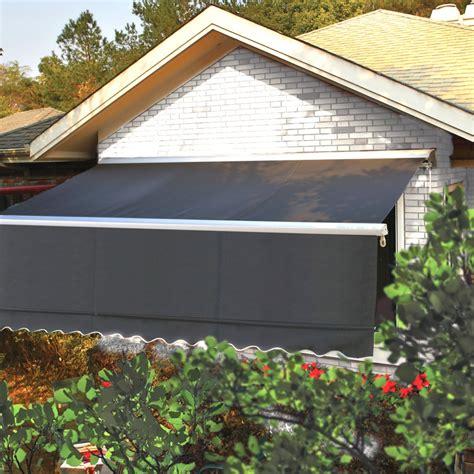 store banne semi coffre 4x3m manuel gris store de terrasse parasol tonnelle store voile