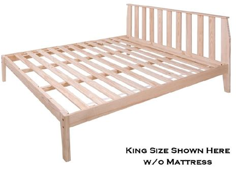 rock platform bed with mission headboard