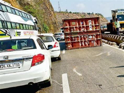 Fallen Container Blocks Punemumbai Expressway Traffic For. Blind Spot Stickers. Vegetable Garden Murals. Old Fashion Lettering. Xerox Colour Banners. Angel Demon Signs. Free Grocery Store Coupons. Sketsa Logo. Third Grade Banners