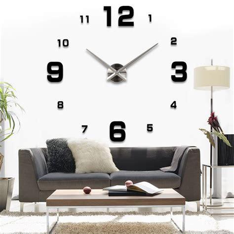 Details Zu 3d Moderne Wanduhr Spiegel Uhr Wohnzimmer Deko